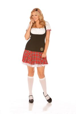 school girl costume, knee highs