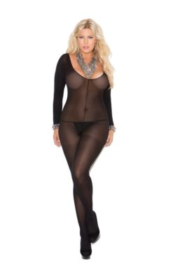 long sleeve bodystocking, queen size