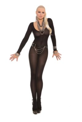 bodystocking, long sleeve, opaque
